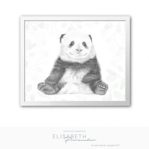Affiche « BAO DI » petit panda - Elisabeth Provencher, artiste
