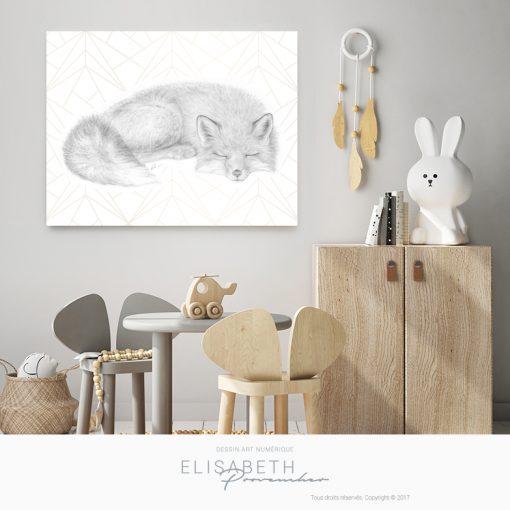 Affiche renard «RENARDO» - Elisabeth Provencher, artiste