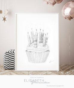 Affiche «CUPCAKE» - Elisabeth Provencher, artiste