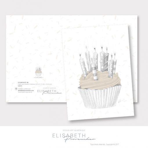 Carte de vœux «CUPCAKE» - Elisabeth Provencher, artiste