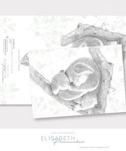 Carte de vœux «KOALA MON PETIT AMOUR» - Elisabeth Provencher, artiste